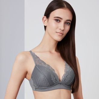 Vera Wang Simply Vera Bras: Lace Wire Free Plunge Bralette