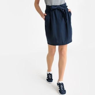 La Redoute Collections Tie-Waist Pencil Skirt
