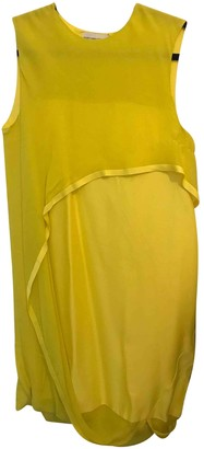 Maison Rabih Kayrouz Yellow Silk Dresses