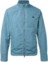 Burberry logo zip jacket - men - Cotton/Polyester - S