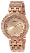 """Versace Women's VA7050013 """"Thea"""" Rose Gold Ion-Plated Stainless Steel Watch with Link Bracelet"""