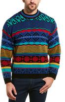Eleven Paris Printed Wool-Blend Crewneck Sweater