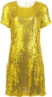 Galvan sequinned mini dress