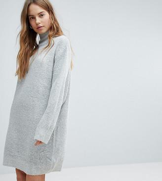 Bershka High Neck Knitted Sweater Dress