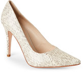 Etienne Aigner Natural Indie Snake-Effect Pointed Toe Pumps