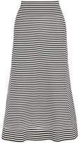 Sonia Rykiel Striped Cotton-blend Midi Skirt - Black