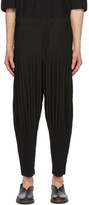Issey Miyake Homme Plisse Black Wide Pleats Trousers