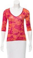 Piazza Sempione Silk Tie-Dye Print Top