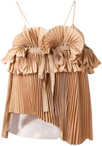 Rochas pleated top - women - Silk/Polyamide - 42