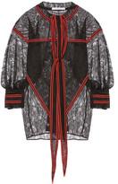 Givenchy Lace Patchwork Blouse - Black