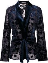 Alberta Ferretti embroidered blazer - women - Silk/Acetate/Viscose/other fibers - 46