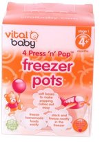 Vital Baby Press 'n' Pop Freezer Pots - 3oz