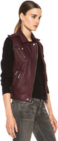 IRO Mert Leather Vest in Burgundy