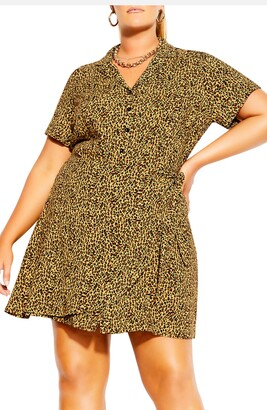 City Chic Cute Animal Print Mini Dress