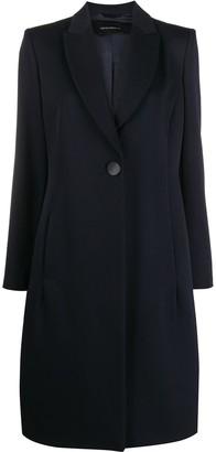 Emporio Armani Single-Breasted Virgin Wool Coat