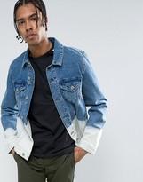 Asos Denim Jacket in Ombre Bleach Wash