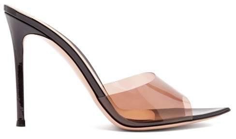 Gianvito Rossi Elle 105 Patent Leather Mules - Womens - Black Nude