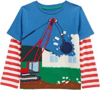 Boden Kids' Lift the Flap Digger Applique T-Shirt