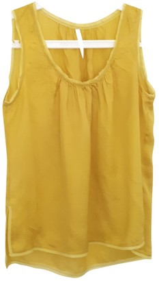 Willow Yellow Silk Top for Women