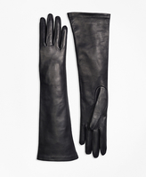 Brooks Brothers Silk Lined Leather Opera Gloves