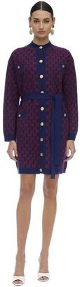Gucci Gg Intarsia Wool Knit Cardigan Coat