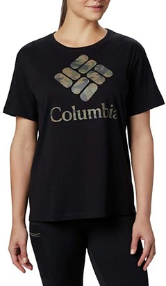 Columbia Parktm Relaxed Tee (Black/Camo) Women's T Shirt