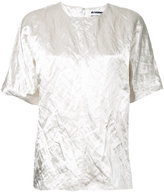Jil Sander - t-shirt à effet froissé