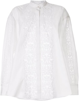 Giambattista Valli Applique Band-Collar Shirt