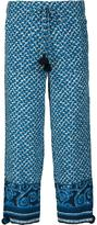 Figue 'Fiore' cropped trousers - women - Silk - XS
