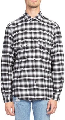 Marcelo Burlon County of Milan Plaid Long-Sleeve Shirt