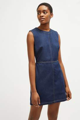 French Connenction Linaire Contrast Stitch Pinafore Dress