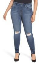 Good American Women's Good Legs High Waist Ankle Skinny Jeans