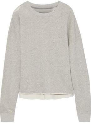 RtA Emmet Distressed French-cotton Terry Sweatshirt