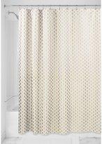 InterDesign Diamond Fabric Shower Curtain-72-Inchx72-Inch, Gold/Metallic