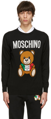 Moschino Black Toy Italian Teddy Bear Sweater