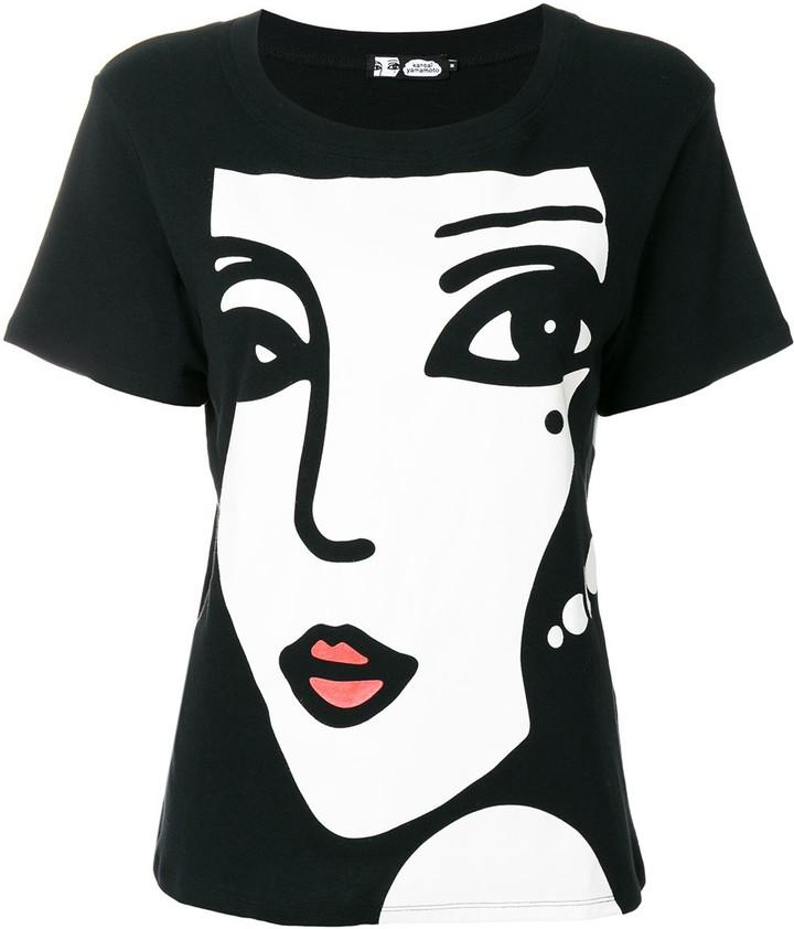 Kansai Yamamoto Pre-Owned 2000s Face & Logo printed T-shirt