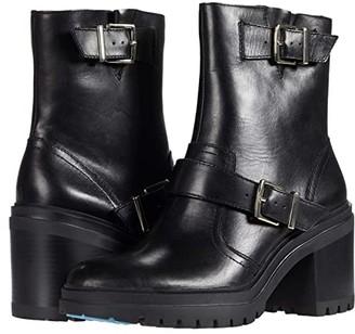 Kenneth Cole New York Rhode Heel Buckle (Black Leather) Women's Boots