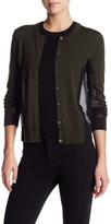 Marc by Marc Jacobs Holly Mesh Trim Wool Cardigan