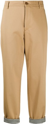 Barena Checked Cuff Slim-Fit Trousers