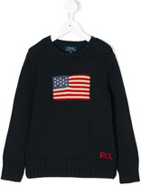 Ralph Lauren flag knitted sweater - kids - Cotton - 2 yrs