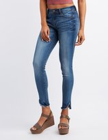 Charlotte Russe Refuge Skin Tight Legging Cut-Off Jeans
