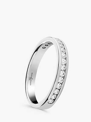Brown & Newirth Platinum Diamond Half Eternity Ring, 0.30ct