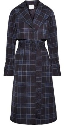 Vince Checked Shell Trench Coat