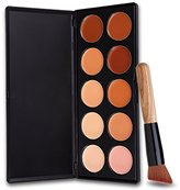 DE'LANCI Makeup Palette Kit with Make up Brushes (10 Color)