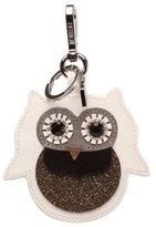 M Z Wallace Snow Owl Charm White Leather