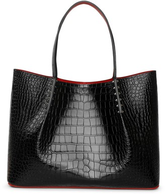 Christian Louboutin Cabarock large calf leather tote bag