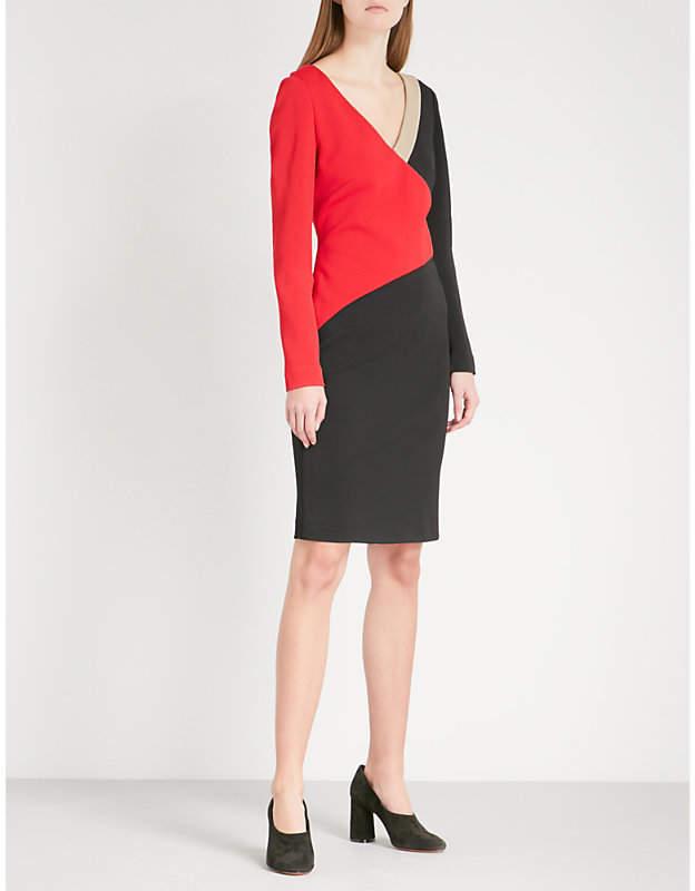 Diane von Furstenberg Geometric-panel fitted woven dress
