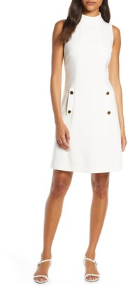 Harper Rose Funnel Neck Sleeveless A-Line Dress