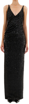 Balmain Sequinned V-Neck Dress