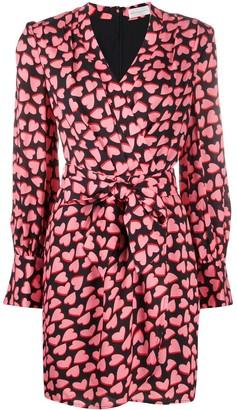 Rebecca Vallance Hotel Heart Print Mini Dress